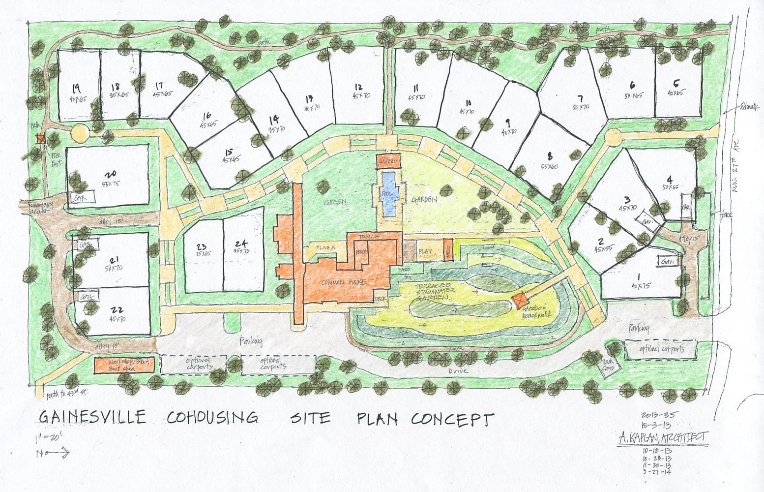 Gainesville cohousing has hired a builder gainesville for Site plan design